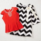 Black, White & Red: Girls' Apparel