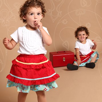Event - White & Red Floral Dress - Girls