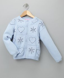 Baby Blue Hoodie Sweater - Girls