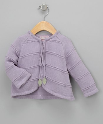 Lilac Knit Swing Coat