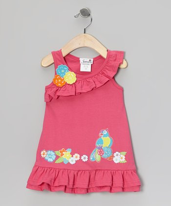 Pink Tropical Bird Dress - Infant, Toddler & Girls