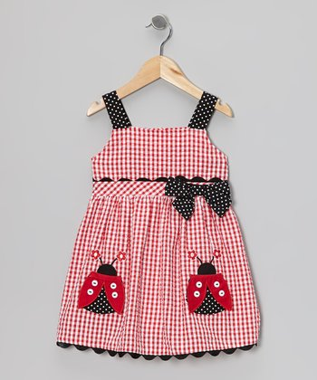 Red Ladybug Dress - Girls