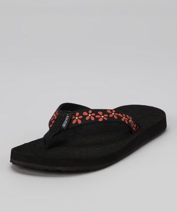 Red Flower Nani Flip-Flop - Women