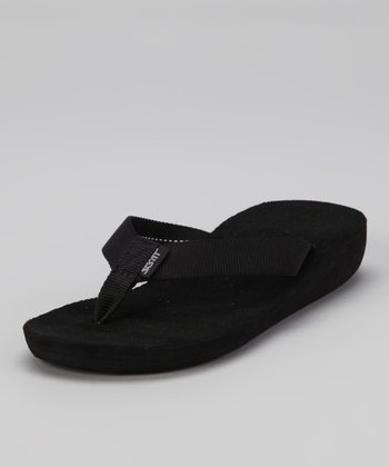 Black Kahakai Wedge Flip-Flop - Women