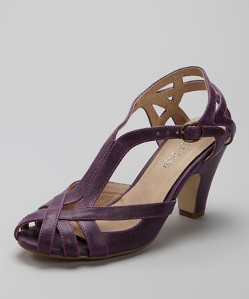 Purple Carla Peep-Toe Shoe