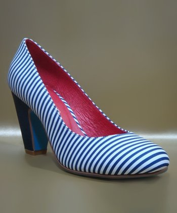 Blue & White Gaston Pump