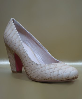 Nude Snake Gaston Pump