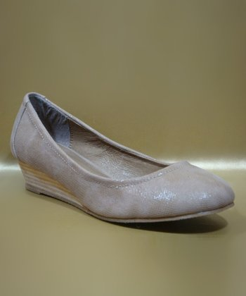 Beige Harper Wedge Pump