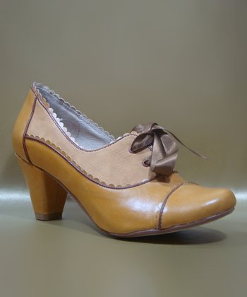 Mustard Madison Oxford Pump