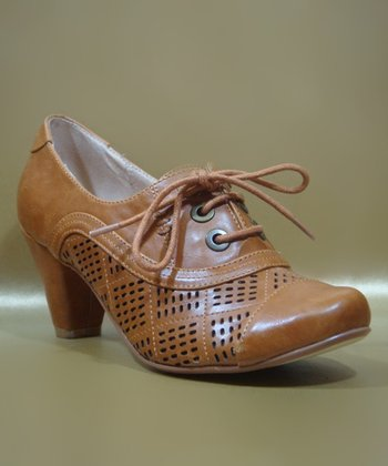 Tan Marilyn Oxford Pump