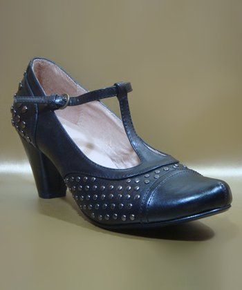 Black Melrose T-Strap Pump