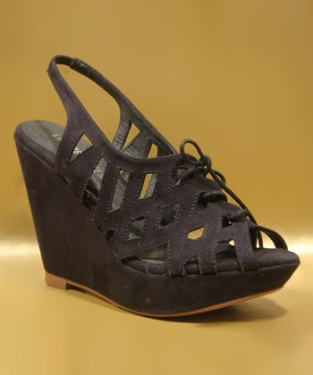 Black Prima Wedge