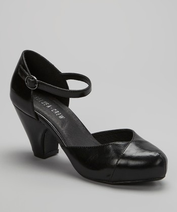 Black Trish Ankle-Strap Pump
