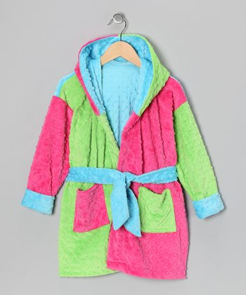 Pink & Lime Robe - Toddler & Girls