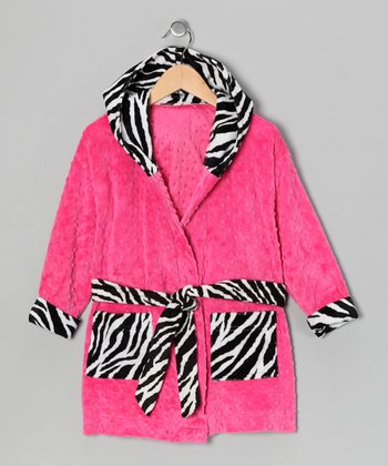 Pink Zebra Robe - Toddler & Girls