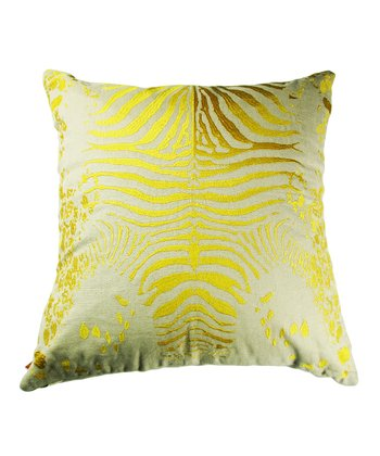 Yellow Tiger Pillow