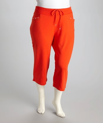 Orange Grommet Plus-Size Capri Lounge Pants