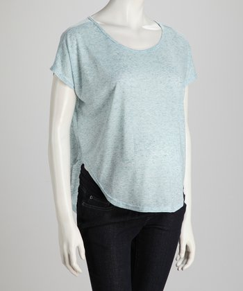 Mint Two-Tone Maternity Top