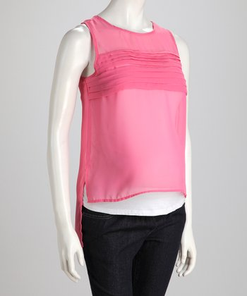 Rosebud Ruffle High-Neck Maternity Tank