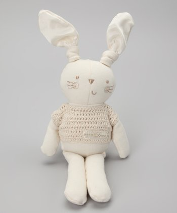 Cream Pure Love Boy Bunny Plush Toy