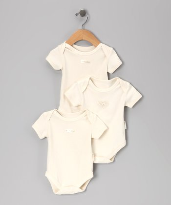 Cream Pure Love Bodysuit Gift Set - Infant