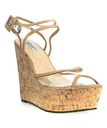 Beige Kelly Wedge