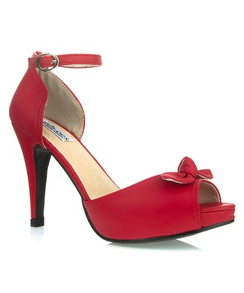 Red Mindy Ankle-Strap Sandal