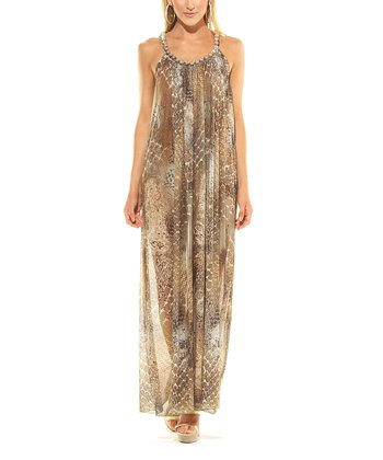 Gold Snakeskin Rochelle Maxi Cover-Up