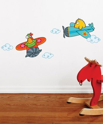 Quackety Flight Wall Decal