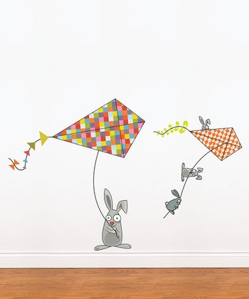 Bunnies & Kites Wall Decal