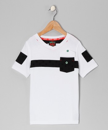 White Astor V-Neck Tee - Infant, Toddler & Boys