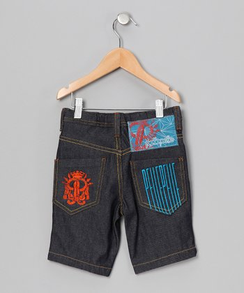 Navy Vertigo Shorts - Infant, Toddler & Boys