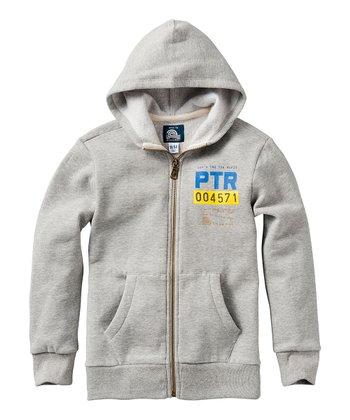 Gray Melee 'PTR' Zip-Up Hoodie
