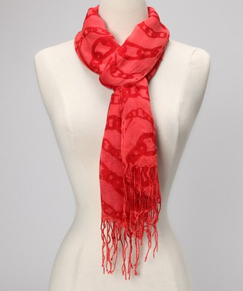 Red Chain Scarf