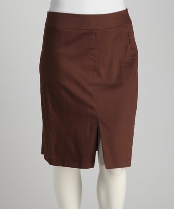 Jill Alexander Chocolate Alison Plus-Size Skirt