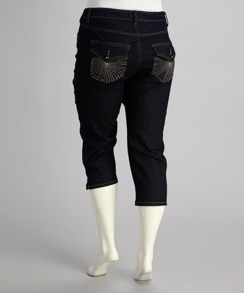 Indigo Dark Wash Capri Jeans - Plus