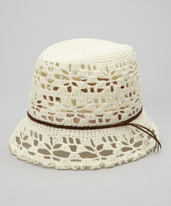 Natural Crocheted Fedora