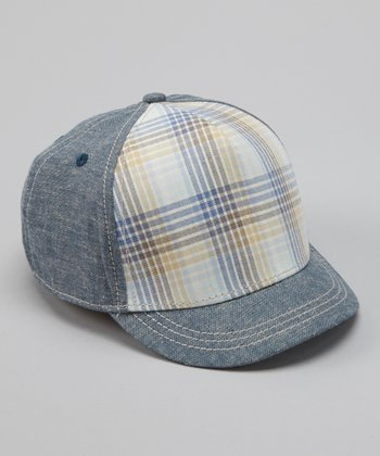 Blue Plaid Trucker Hat