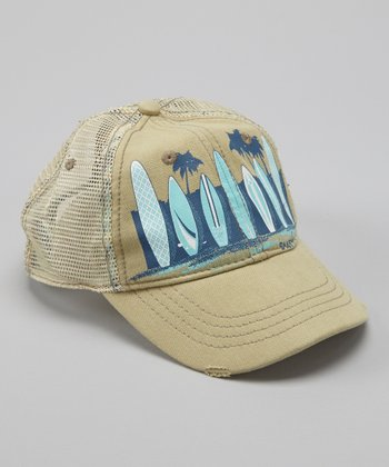 Khaki Beach Trucker Hat
