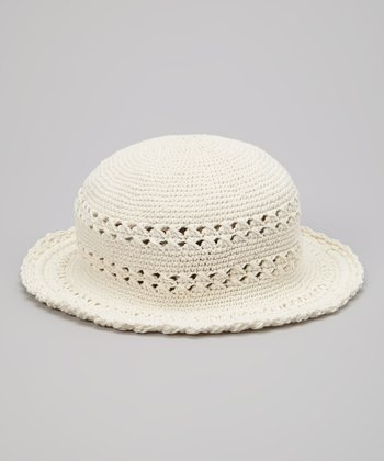 Natural Crocheted Bucket Hat