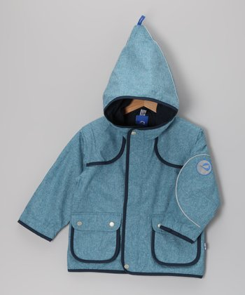 Breeze & Navy Duffeli Jacket - Infant, Toddler & Kids