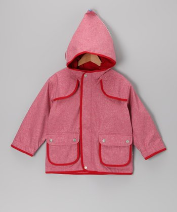 Red Duffeli Jacket - Infant & Girls