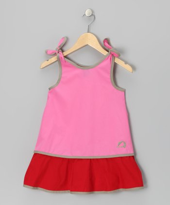 Pink & Red Heli Jumper - Infant, Toddler & Girls