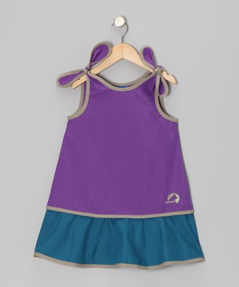 Purple & Seaport Heli Jumper - Infant, Toddler & Girls