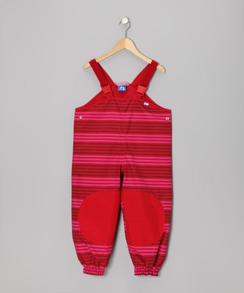 Chili & Magenta Jolla Peach Bib Pants - Infant, Toddler & Girls