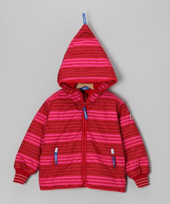 Chili & Magenta Kamu Zip-Up Hoodie - Infant, Toddler & Girls