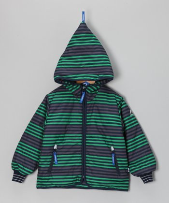 Green & Elephant Kamu Zip-Up Hoodie - Infant, Toddler & Kids