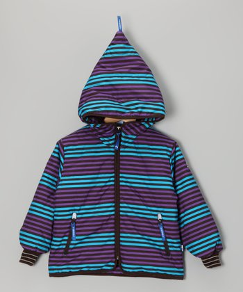 Sky & Purple Kamu Zip-Up Hoodie - Infant, Toddler & Kids