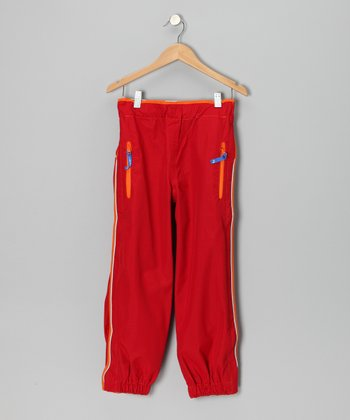 Red Kura Rain Pants - Infant, Toddler & Girls
