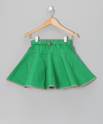 Green & Sand Kuuma Twist Skirt - Infant, Toddler & Girls